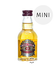 Chivas Regal 12 Jahre Blended Scotch Whisky Miniatur / 40 % Vol. / 0,05 Liter-Flasche