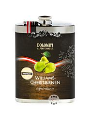 Dolomiti: Flachmann Williams Schnaps / 35 % Vol. / 0,2 Liter-Flasche aus Edelstahl