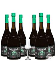 Fassbind: 6 x Alte Birne - Vieille Poire / 40% Vol. / 6 x 0,7 Liter + mySpirits Schnapskelch