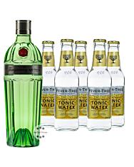 Tanqueray No. 10 Ten Gin (47,3 % Vol., 0,7 L) & 5 x Fever-Tree Premium Indian Tonic Water (0,2 L)  inkl. 0,75 € Pfand
