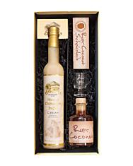 Prinz Geschenk-Set Frauenkränzchen - Prinz Marc de Champagne-Trüffel-Likör & Likör mit Inländerrum / 15 & 40 % / 1 x 0,5 & 1 x 0,2 in Deko-Box