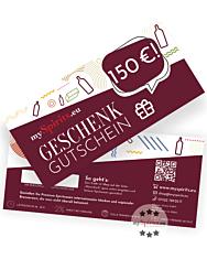 Einkaufsgutschein 150 € - Geschenk-Gutschein zum Einlösen auf mySpirits.eu
