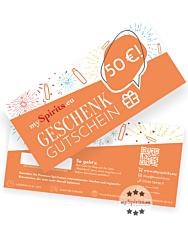 Einkaufsgutschein 50 € - Geschenk-Gutschein zum Einlösen auf mySpirits.eu