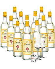 12 x Prinz Honig Birnerla / 34 % Vol. / 12 x 1,0 Liter-Flasche + 2 x gratis mySpirits-Schnapskelch