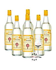 6 x Prinz: Honig Birnerla / 34 % Vol. / 6 x 1,0 Liter-Flasche + 1 x gratis mySpirits-Schnapskelch