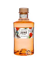 June by G'Vine Wild Peach & Summer Fruits Liqueur mit Gin / 30 % Vol. / 0,7 Liter-Flasche