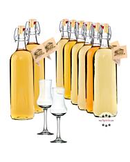 Prinz alle Alten Sorten - Vorteilspaket 8 x 1,0 Liter-Flasche + 2 Gläser / 41 % vol.
