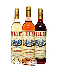 Lillet 3er-Set Blanc, Rose und Rouge Weinaperitif / 17 % Vol. / 3 x 0,75 Liter-Flasche