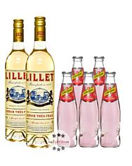 Lillet Wild Berry Set: 2 x Lillet Blanc (17 % Vol., 0,75 L) + 5 x Schweppes Wild Berry (0,2 L, inkl. Pfand)