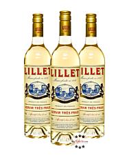 Lillet Wild Blanc Weinaperitif 3er-Set / 17 % Vol. / 3 x 0,75 Liter-Flasche