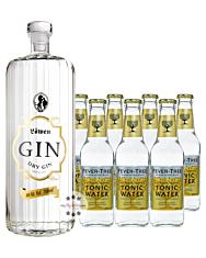 Löwen Dry Gin (40% Vol., 0,7 L) & 7 x Fever-Tree Indian Tonic Water (0,2 L) inkl. 1,05€ Pfand