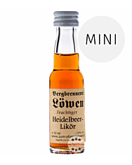 Löwen: Heidelbeerlikör / 25% Vol. / 0,02 Liter - Flasche