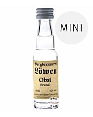 Löwen: Hochtannberger Obst Brand / 42% Vol. / 0,02 Liter - Flasche