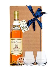 Geschenk-Set: Louis Bouron Prestige (40 % Vol. / 0,7 L) + 2 x mySpirits Nosingglas in Geschenkbox