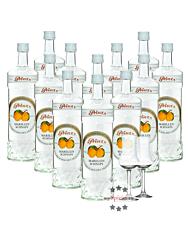 12 x Prinz Marillen-Schnaps / 40 % Vol. / 12 x 1,0 Liter-Flaschen + 2 x gratis mySpirits-Schnapskelch