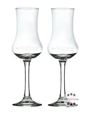 Schnapsglas oder Grappa-Glas: 2 x Degustationsglas für Spirituosen aus edlem Glas