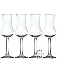 mySpirits Schnapskelch: 4 x Degustationsglas für Spirituosen mit 0,02 Liter Eichstrich