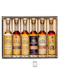 Plantation Rum Experience Box Probierset / 40-43,5 % Vol. / 6 x 0,1 Liter-Flasche in Geschenkbox