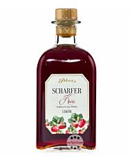 Prinz Scharfer Kuss Likör – Erdbeer & rosa Pfeffer Sommerlikör / 16 % Vol. / 0,5 Liter-Flasche