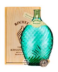 Rochelt  Gravensteiner Apfel – Jahrgangsbrand aus Apfel im Glasballon gereift / 50 % Vol. 0,35 Liter-Flasche in Holzkiste