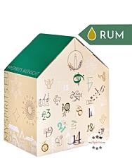mySpirits Rum Adventskalender Premium / 37,5-55,5 % Vol. / 24 x 0,02 Liter-Miniatur + mySpirits kleines Nosingglas