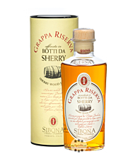 Sibona Grappa Riserva Botti da Sherry / 40 % Vol. / 0,5 Liter-Flasche in Geschenkdose