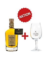 SLYRS Whisky Set: Bavarian Single Malt Whisky + Whisky-Glas / 43 % vol. / 0,35 Liter-Flasche