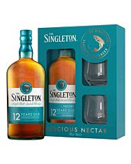 The Singleton of Dufftown 12 Jahre Whisky Geschenkset/ 40 % Vol. / 0,7 Liter-Flasche + 2 Tumbler-Gläser