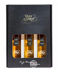 Villa de Varda Meraviglie Trentine Grappa-Geschenkset – Set mit drei Grappa Riserva / 40 % / 3 x 0,2 Liter-Flasche in Geschenkschachtel