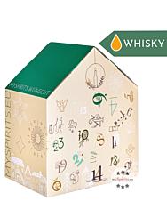 mySpirits Whisky Adventskalender Premium / 40-46 % Vol. / 24 x 0,02 Liter-Miniatur + mySpirits kleines Nosingglas