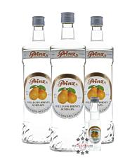 Prinz: Williams-Birnen Schnaps Kombi / 40 % Vol. / 3 x 1,0 Liter-Flasche + 1 x 0,02 Liter-Miniatur