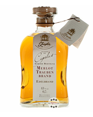 Ziegler Cigalus Merlot-Traubenbrand - Edelbrand aus ganzen Merlot-Trauben / 43 % vol. / 0,7 Liter-Flasche