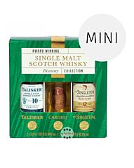 Classic Malts Single Malt Scotch Whisky Discovery Collection Probierset / 40–45,8 % Vol. / 3 x 0,05 Liter-Flasche in Geschenkbox
