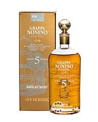Nonino Grappa Riserva AnticaCuvée 5 Jahre / 43 % vol. / 0,7 Liter-Flasche im Geschenk-Karton