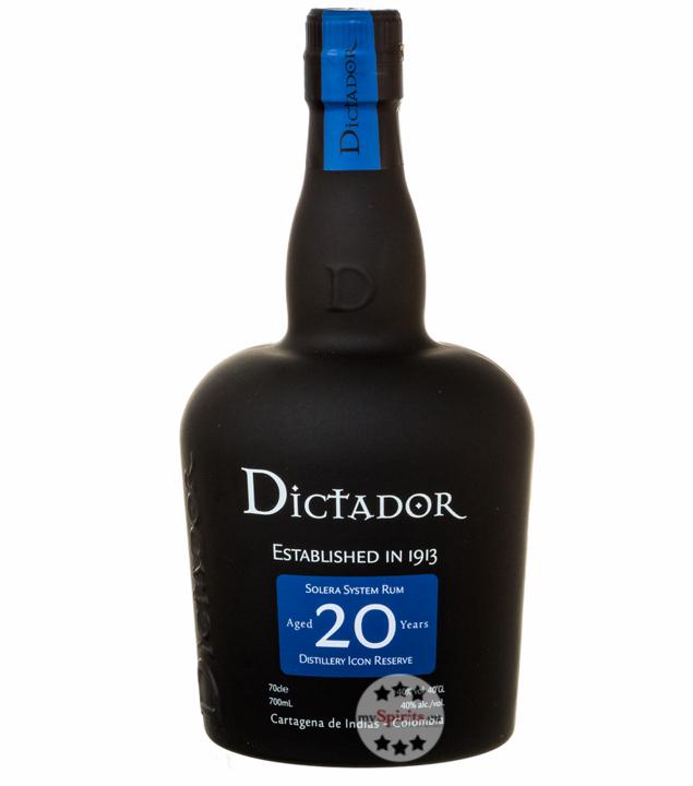 Solera System Rum aged 20 Years / 40 % Vol. / 0,7 Liter-Flasche in Geschenkkarton