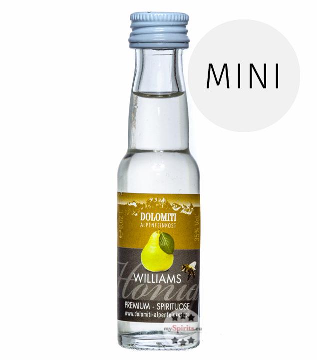 Dolomiti: Honig-Williams-Schnaps Premium Spirituose / 35 % Vol. / 0,02 Liter - Flasche