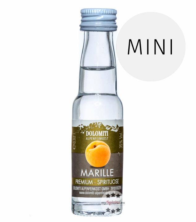 Dolomiti: Marillen-Schnaps Premium Spirituose / 35 % Vol. / 0,02 Liter - Flasche
