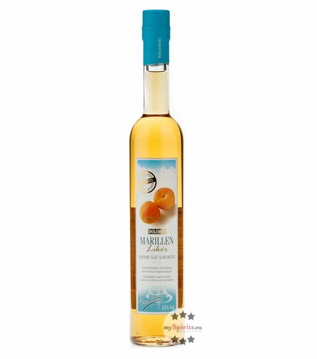 Dolomiti Alpenfeinkost Marillenlikör – Liquore Alle Albiccocche / 15 % vol. / 0,5 Liter-Flasche