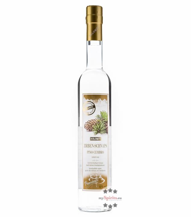 Dolomiti: Zirben-Schnaps / 40% Vol. / 0,5 Liter - Flasche