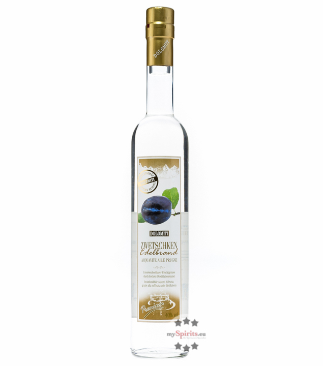 Dolomiti: Zwetschken Edelbrand Premium / 40% Vol. / 0,5 Liter - Flasche
