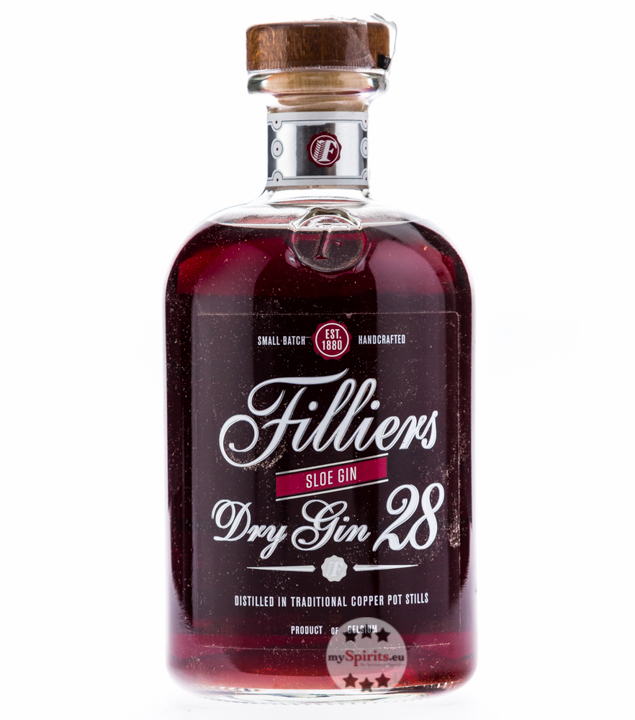 Filliers Dry Gin 28 Sloe Gin / 26 % vol. / 0,5 Liter-Flasche