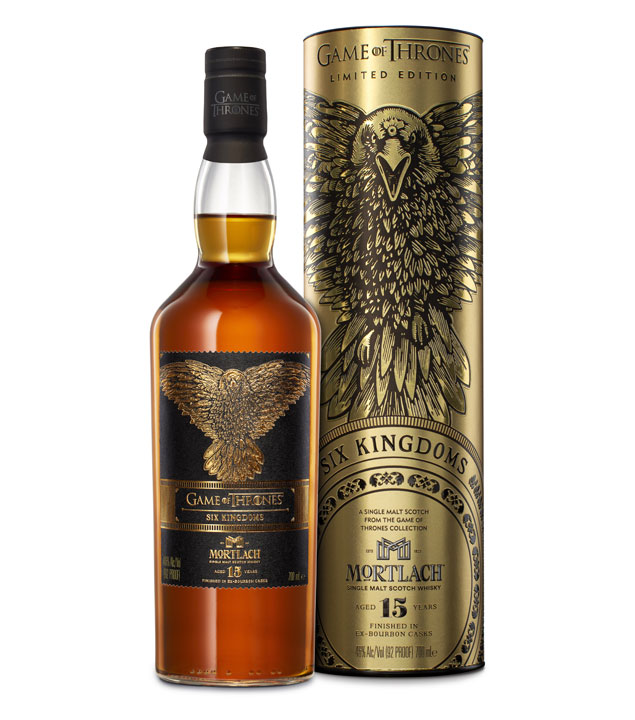Game of Thrones Whisky Six Kingdoms Mortlach 15 Jahre / 46 % Vol. / 0,7 Liter-Flasche in Geschenkdose