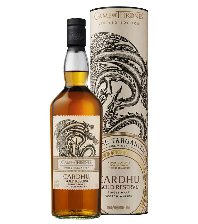 Game of Thrones Whisky House Targaryen Gold Reserve / 40 % Vol. / 0,7 Liter-Flasche in Geschenkdose