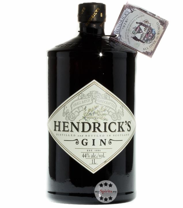 hendrick s small batch gin 44 vol 1 0 liter flasche ebay. Black Bedroom Furniture Sets. Home Design Ideas