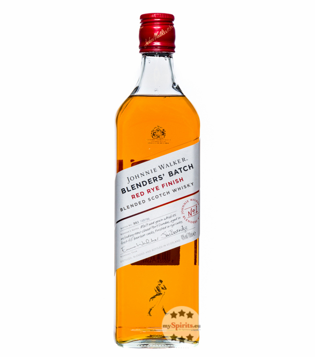 Johnnie Walker Blender's Batch Red Rye Whisky / 40 % Vol. / 0,7 Liter-Flasche in Geschenkkarton