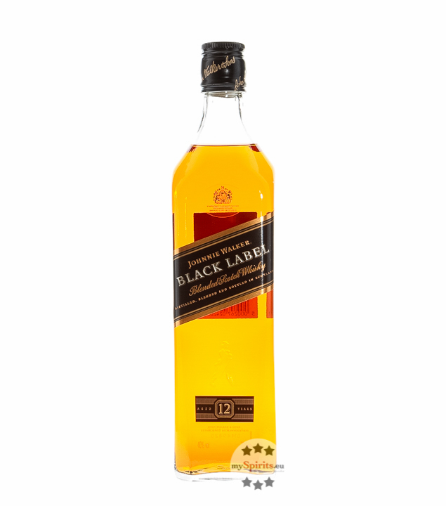 Johnnie Walker Black Label Blended Scotch Whisky - Aged 12 Years / 40 % vol. / 0,7 Liter-Flasche
