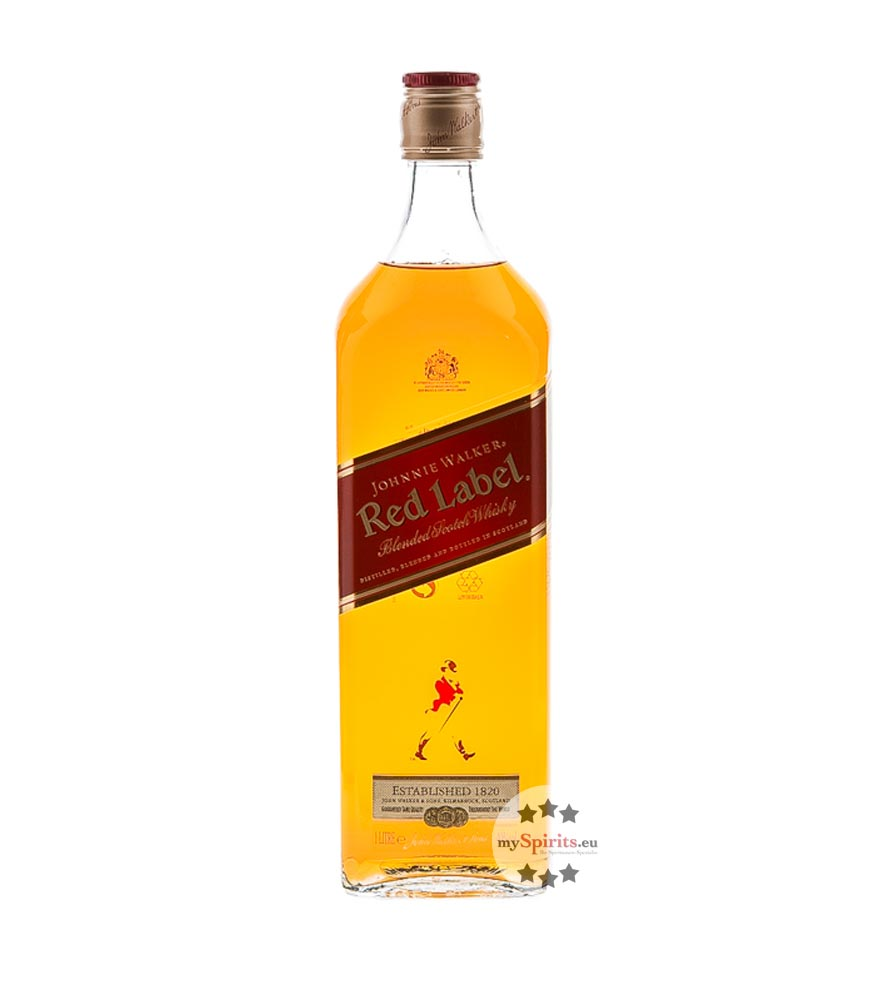 Johnnie Walker Red Label Blended Scotch Whisky / 40 % vol. / 1,0 Liter-Flasche