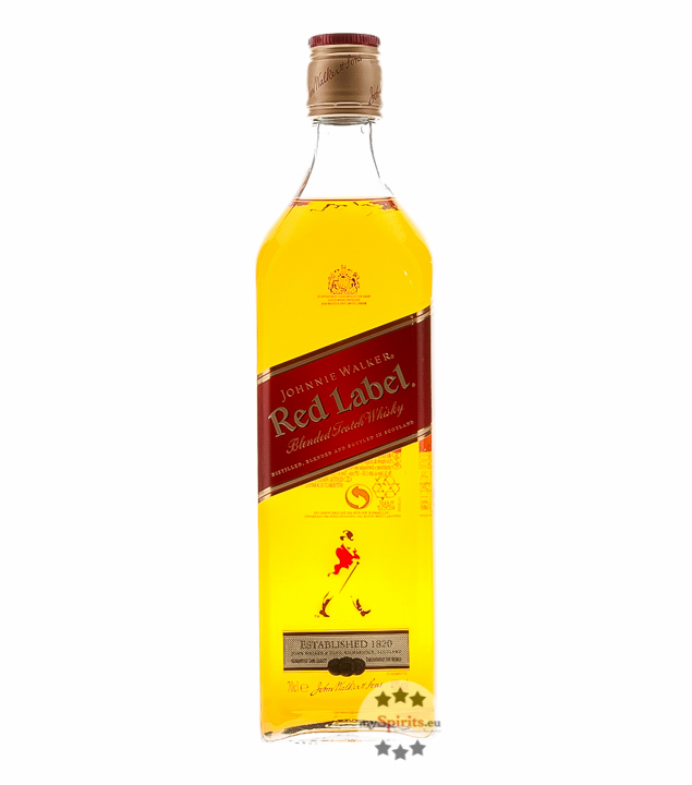 Johnnie Walker Red Label Blended Scotch Whisky / 40 % vol. / 0,7 Liter-Flasche