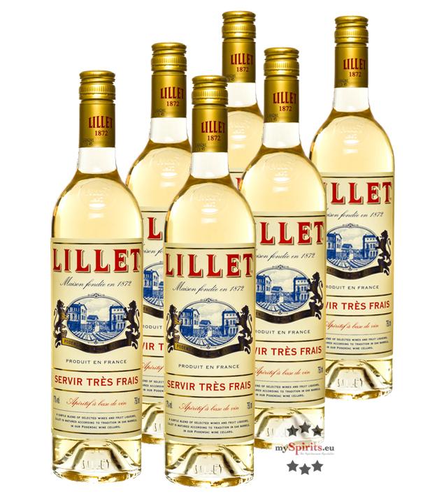 Lillet: Blanc Weinaperitif 6er-Pack / 17 % Vol....