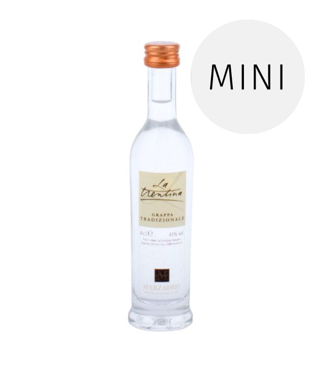 Marzadro: Grappa La Trentina Tradizionale / 41 % Vol. / 0,04 Liter-Flasche